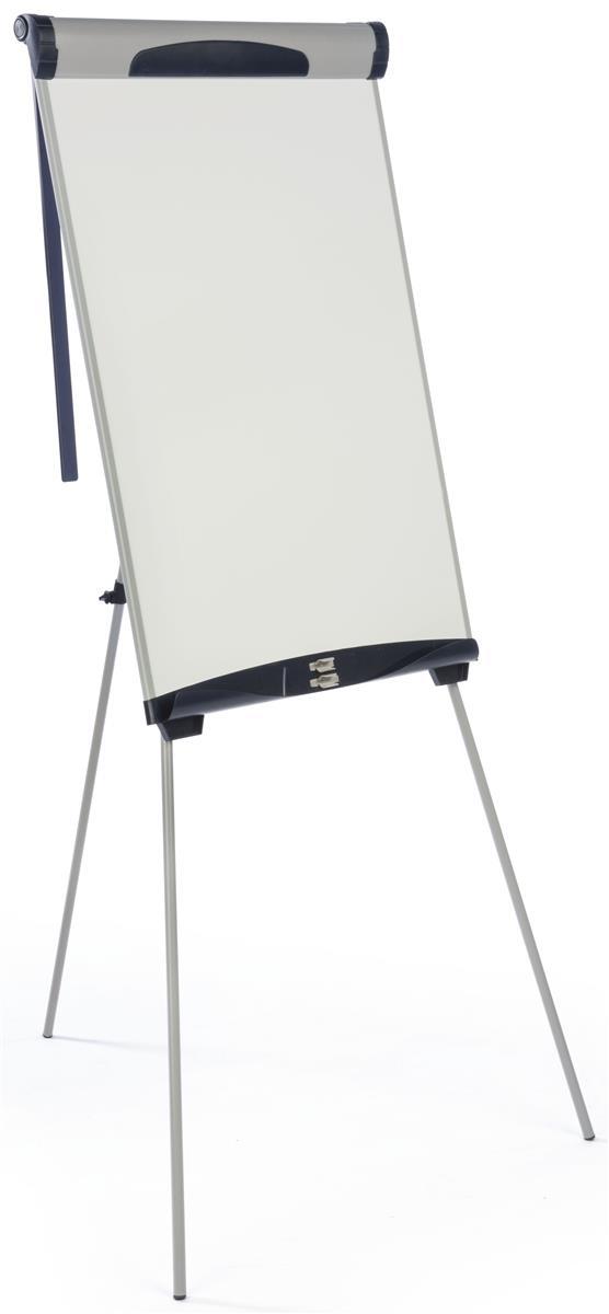 Dry Erase Board Tripod Easel Floor Standing Countertop Tray Flip Chart Silver