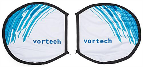 Custom backpack butterfly o shape round banner flag for backpacoktd