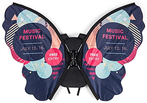 Walking butterfly backpack advertising with full color graphics