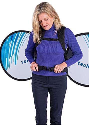 Comfortable o-shape wearable advertising backpack