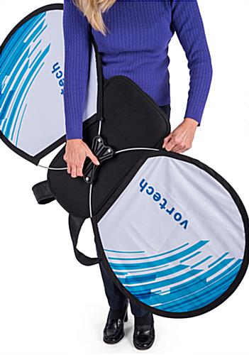 O-shape wearable advertising backpack with simple assembly