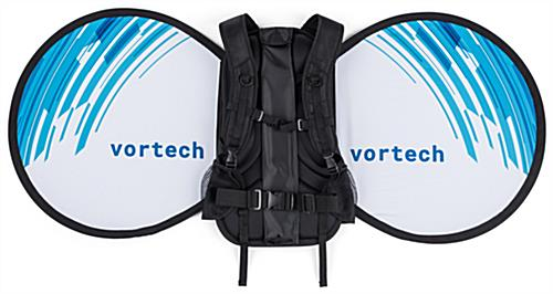Unique o-shape wearable advertising backpack