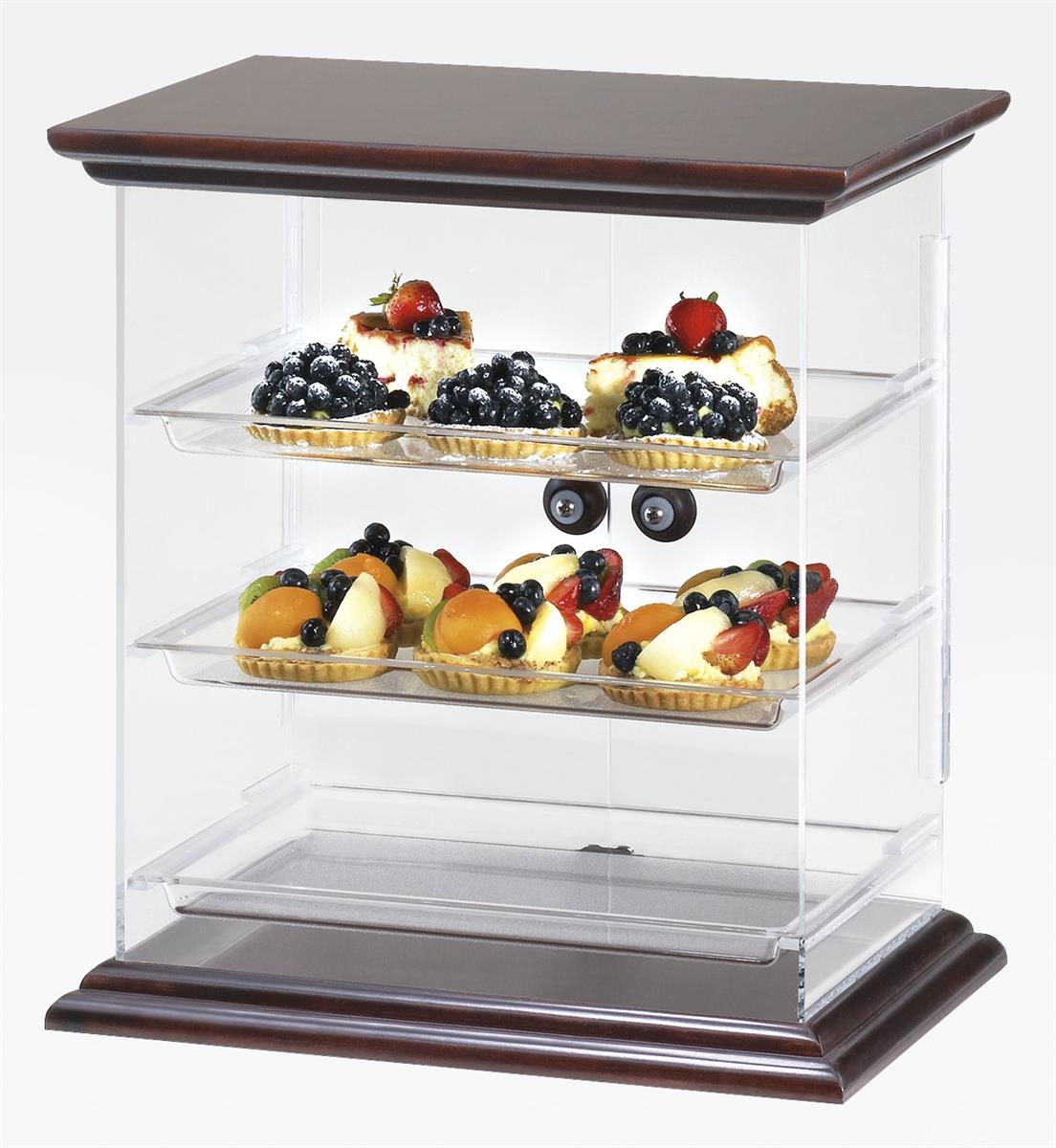 Displays2go Acrylic Food Display Case with (3) Plastic Trays