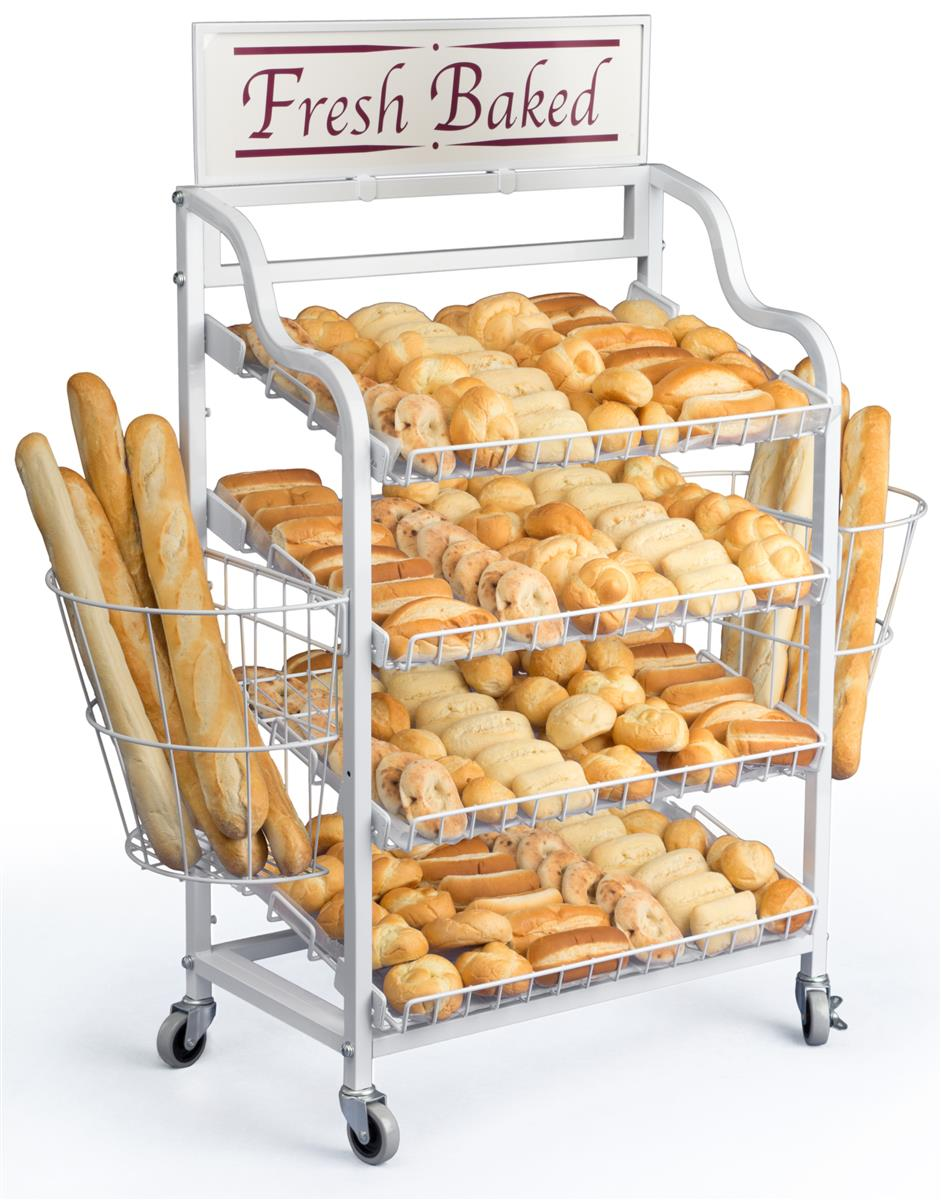 This Display For Bakery Bread Is Eye Catching And Portable