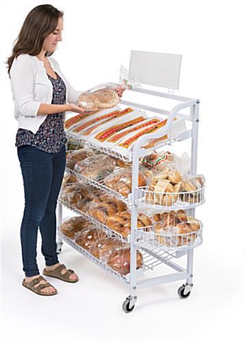 Wire Bread Racks 4 Included Shelf Attachments