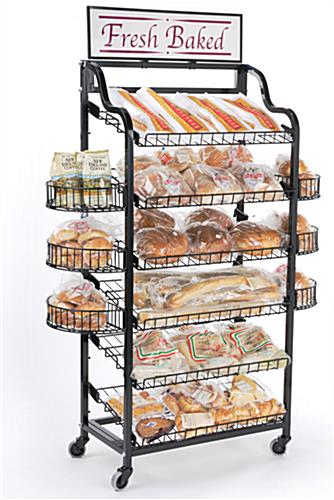 Bakery Display Shelves 6 Shelves Amp 4 Side Baskets