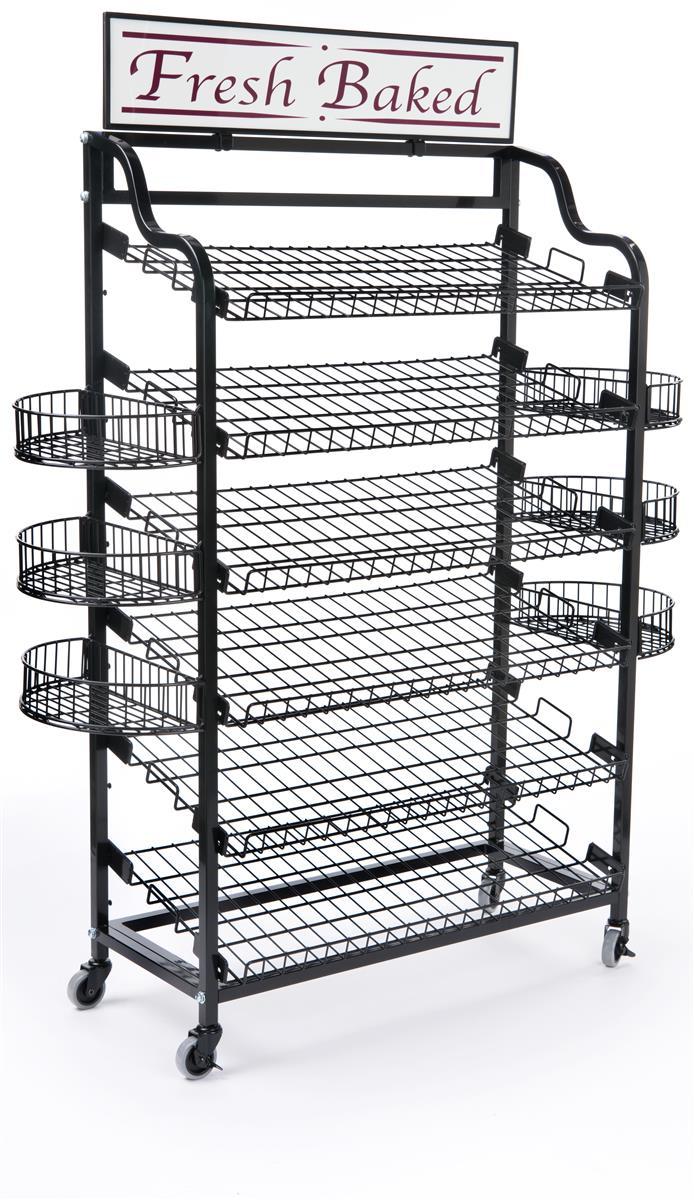 Retail Stands For Baked Goods Adjustable Shelf Displays