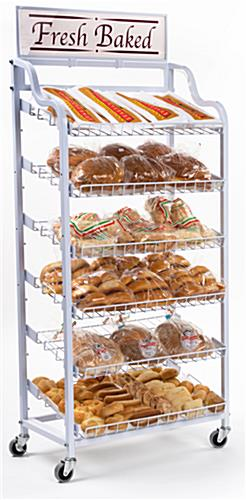 The Bread Display Promotes Fresh Baked Goods On Titled