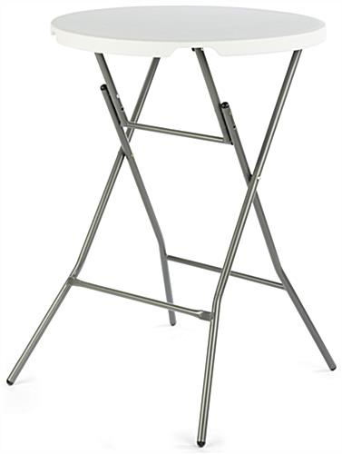 Folding Bar Table with White Top