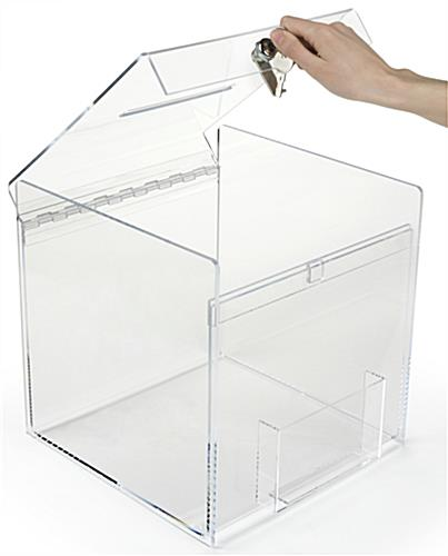 Front Pocket Plexiglass Donation Box