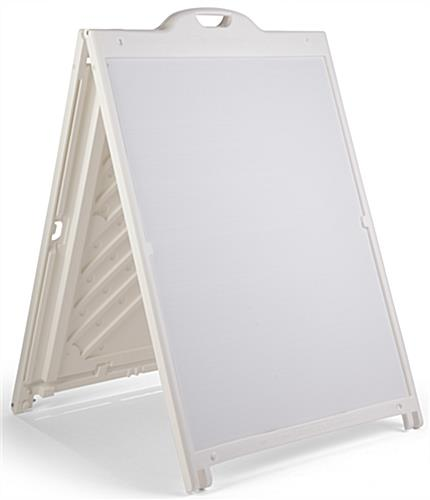 White 36 x 48 Plastic Sandwich Board