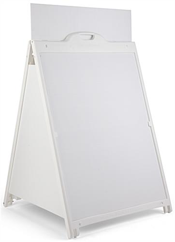 White 36 x 48 Sidewalk Sign with Inserts
