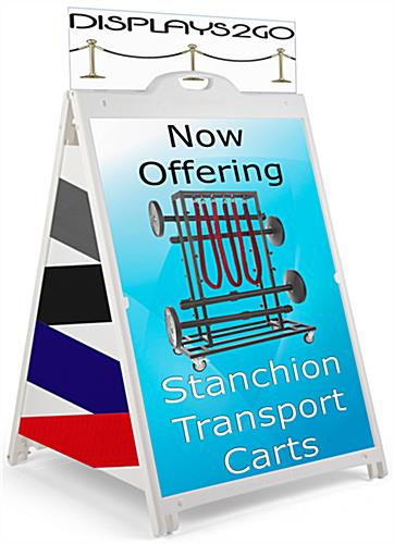 White 36 x 48 Custom Printed Sidewalk Sign