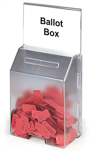 Ballot Box Features A Molded Frosted Plastic Design