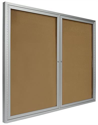 4 X 3 Locking Framed Corkboard Swing Open Door