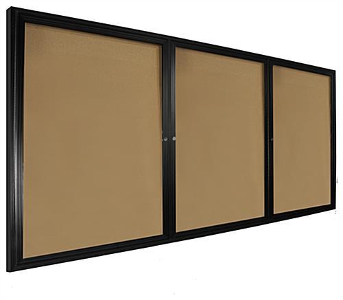 Self Healing Enclosed Corkboard 8 X 4 3 Doors