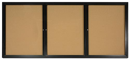 enclosed cork boards