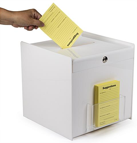 Top Slot White Ballot Box