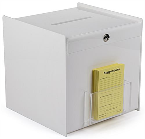 White Ballot Box Acrylic