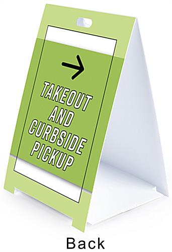 Printed folding a frame sign with front and back individual printing