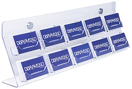 Acrylic Business Card Wall Rack with 10 Open Pockets