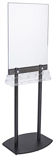 Double-Sided Poster Stand with Business Card Slots for Contact Information and Gift Cards