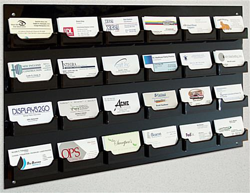 Wall Mount Business Card Holder 24 Pockets W Acrylic Construction