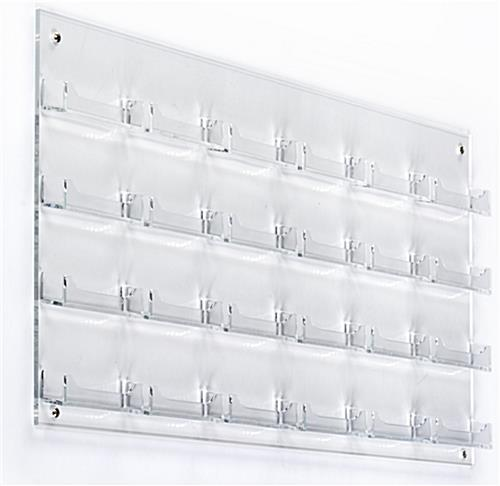 Clear 24-Pocket Wall Business Card Holder, Easy Mounting