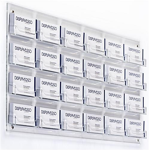 Clear 24-Pocket Wall Business Card Holder, Open Pocket