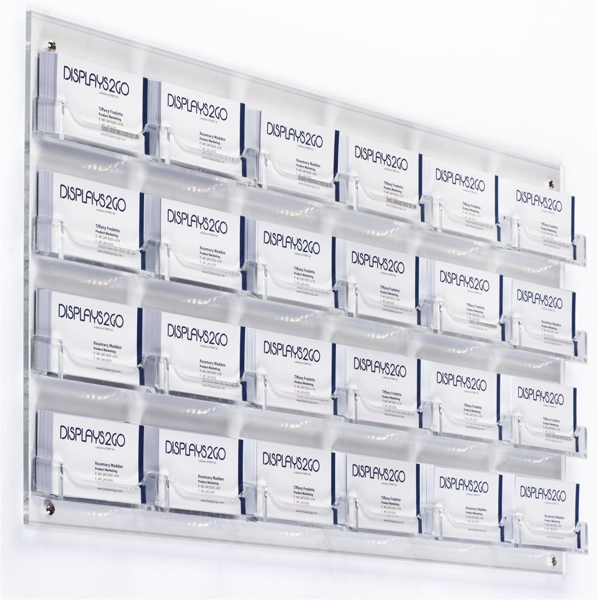 Clear 24 Pocket Wall Business Card Holder Acrylic