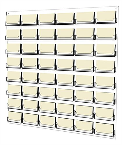 Clear 48-Pocket Business Card Wall Rack Holds 100s of Cards