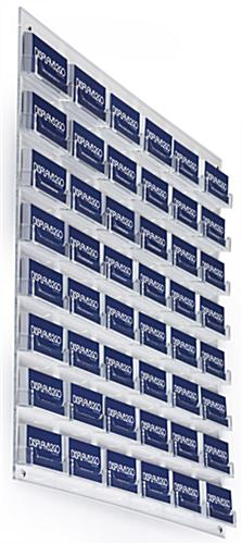Clear 48-Pocket Business Card Wall Rack, Durable