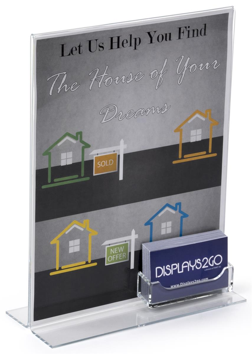 Custom business card holder features acrylic sign frame magicingreecefo Gallery