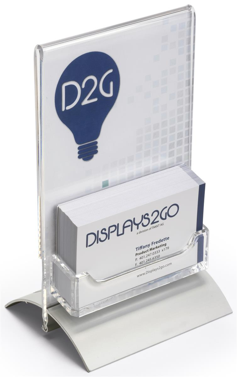 Business Card Holders with Sign Display