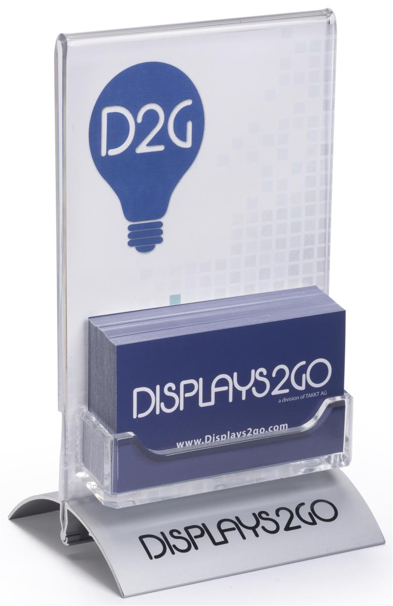 Business card holders with custom printing portrait display for Business card display frame