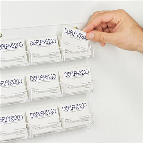 9 pocket wall mounting business card display business card holder wall mount colourmoves