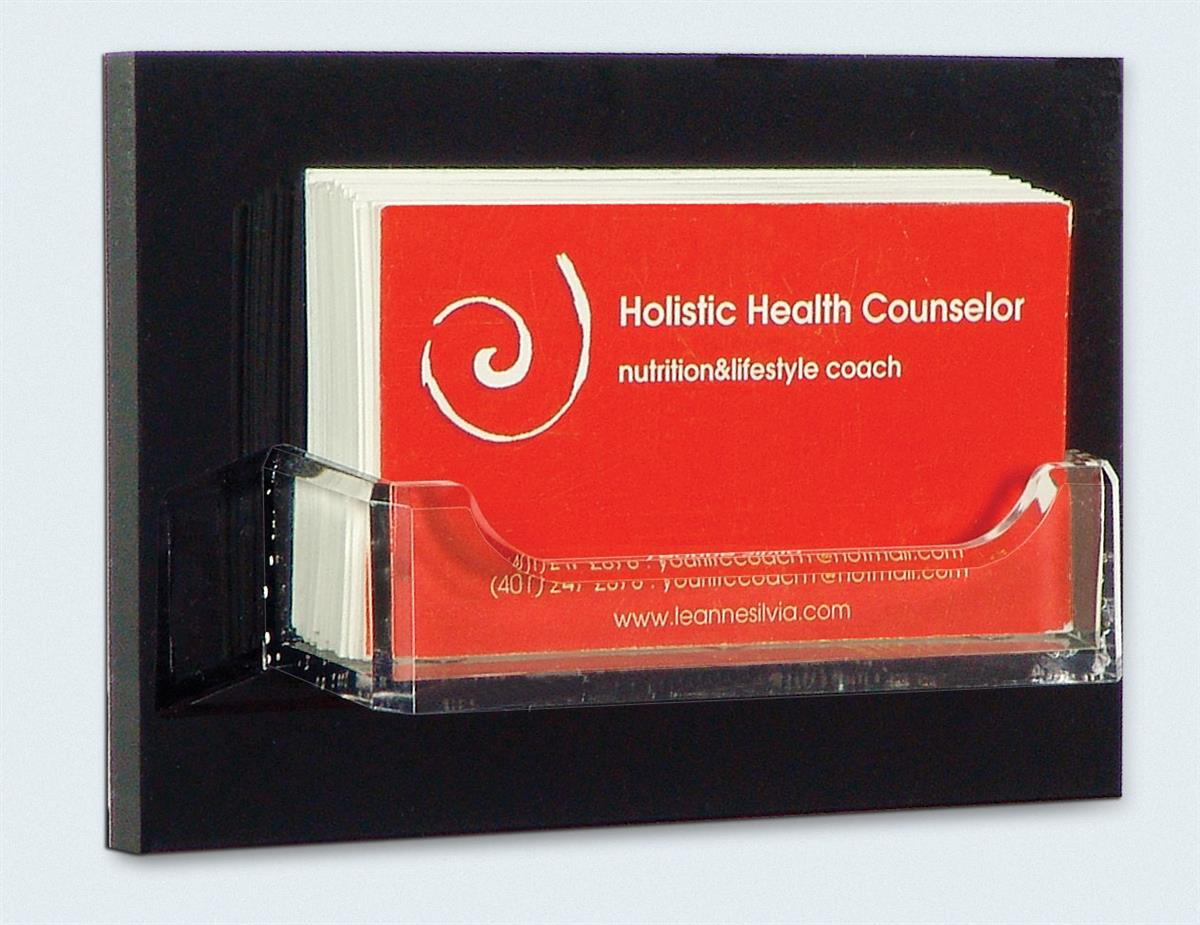 Wall Mount Business Card Holder 5 Quot W Clear Acrylic