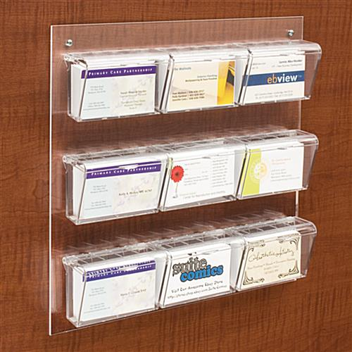 Exterior Business Card Holder Fits Up To 540 Cards
