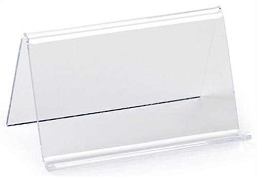Plastic Business Card Holder Clear Acrylic Desk Display