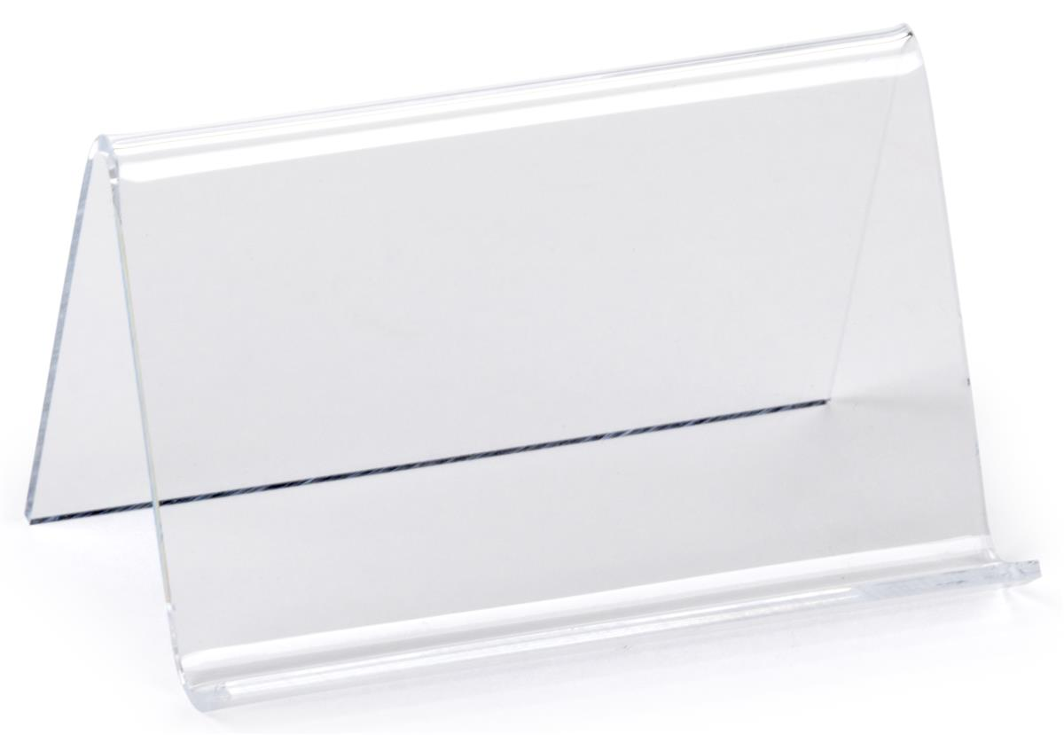 Plastic business card holder clear acrylic desk display for Clear plastic business card holder