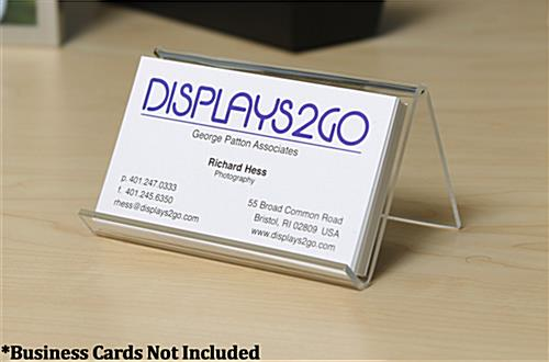 Desk Business Card Holder for Contact Information