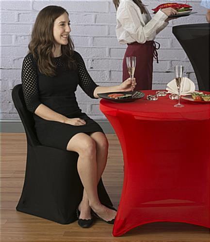 Black Stretch Chair Cover for Restaurant Environments
