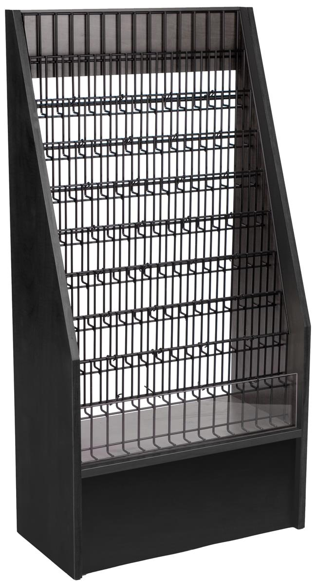 Displays2go 9-Tiered Literature Stand for Floor, with 45 ...