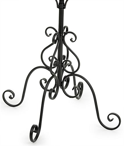 Wrought Iron Coat Rack 40Tier Stand With 40 Hooks Impressive Iron Coat Rack