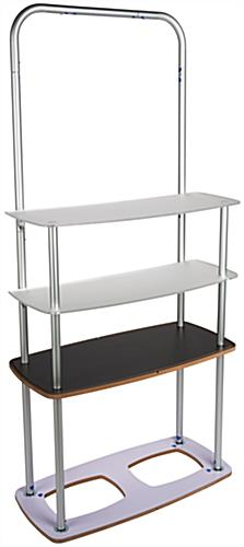 Pop Up Fabric Shelf Stand with Acrylic Shelves