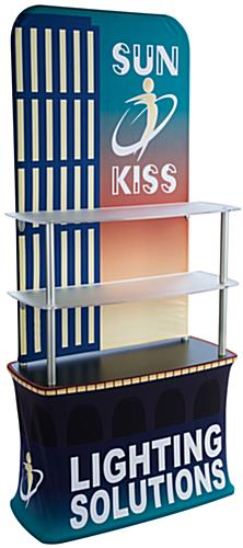 Custom Pop Up Fabric Shelf Stand