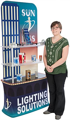Tension Fabric Shelf Stand for Displaying Merchandise