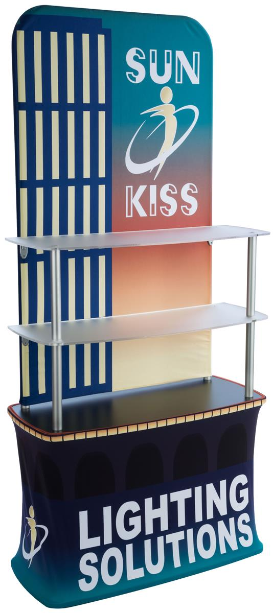 Trade Show Booth With Shelves : Tension fabric shelf stand portable aluminum frame
