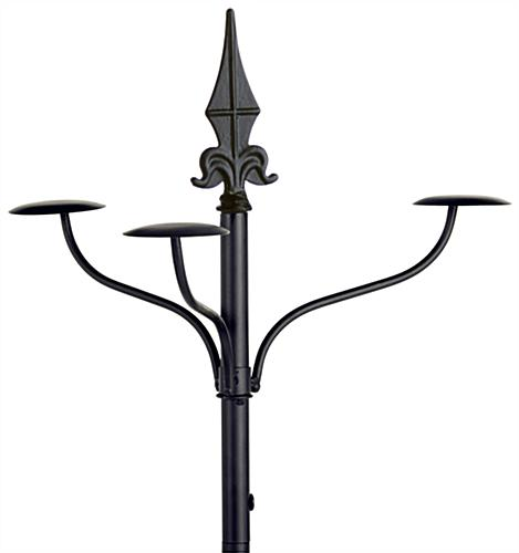 Wrought Iron Hat Rack with Rotating Hooks