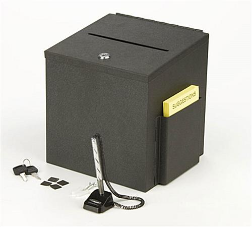 Metal Comment Box Locking W Ballot Holder Amp Security Pen